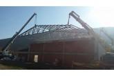 Erfelek kapalı spor salonu inşaatı hızla devam ediyor.