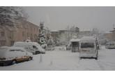 Erfelek'te yoğun kar yağışı etkili oluyor.